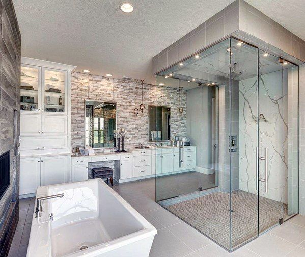 Top 60 Best Master Bathroom Ideas Home Interior Designs Luxury Master Bathrooms Bathroom Design Luxury Master Bathroom Design