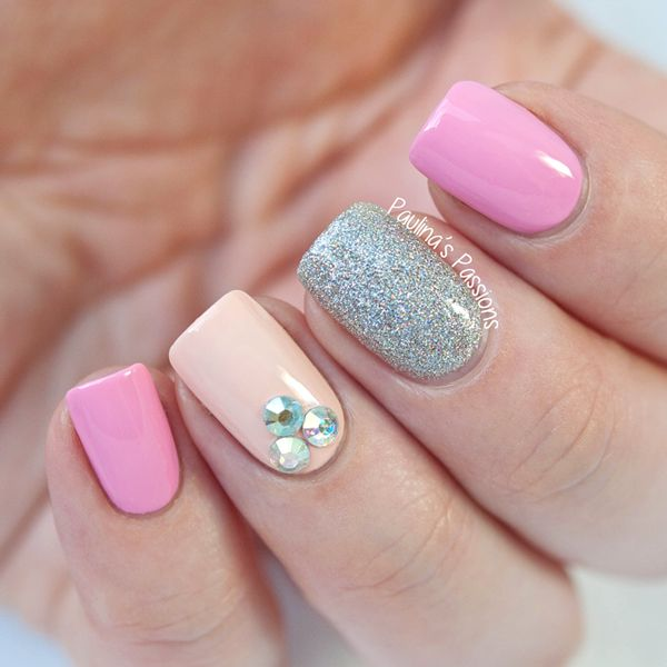 simple bling nail designs - Google Search