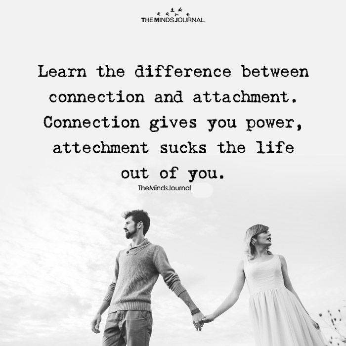 The Difference Between Connection And Attachment | Connection ...