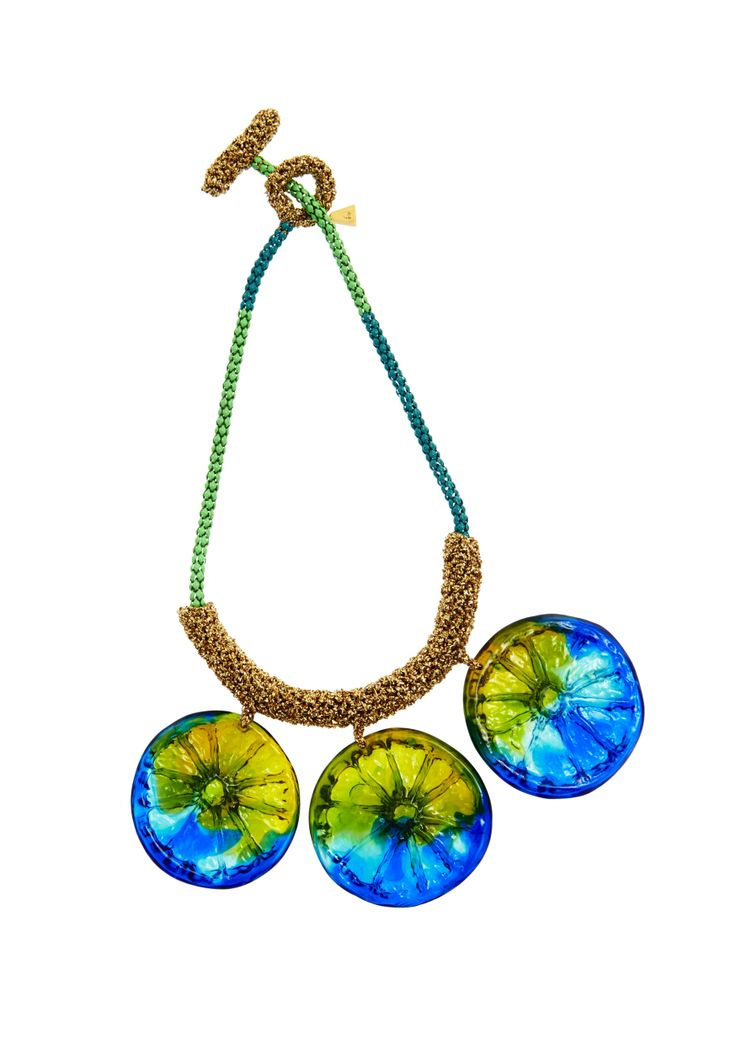 Lucy Folk presents ALL SORTS - Resort 13/14 - LIME SPLICE NECKLACE