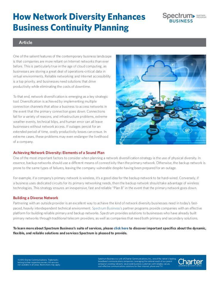 How Network Diversity Enhances Business Continuity