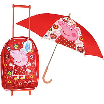Buy Peppa Pig Tropical Paradise Wheel-Along Case and Umbrella  online from The Works. Visit now to browse our huge range of products at great prices.