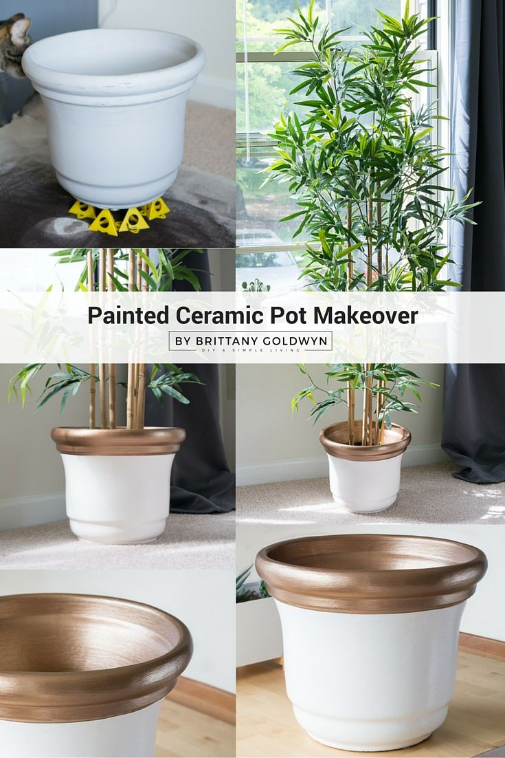 Check Out This Painted Ceramic Pot Makeover Using Americana Decor Satin  Enamelsu2026