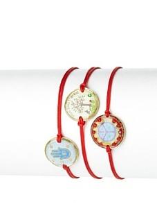 Mercedes Salazar Set of 3 Charm Bracelets, Red