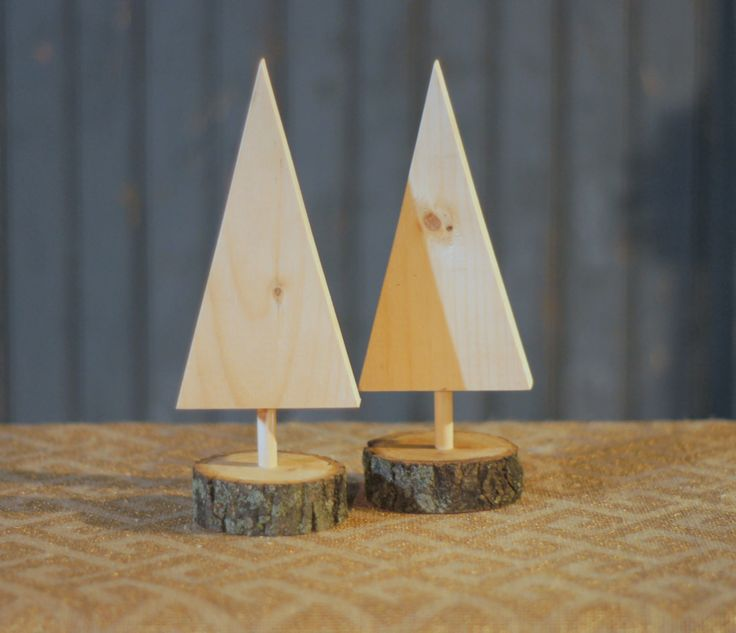 """Set of 2 Mini Christmas Trees- Solid Unfinished Wood for DIY Great Craft for Kids to Paint. Display on Tabletop, Mantle or Porch. Approx. Size: 6-8"""" High FREE PRIORITY SHIPPING Whatever your dream for"""