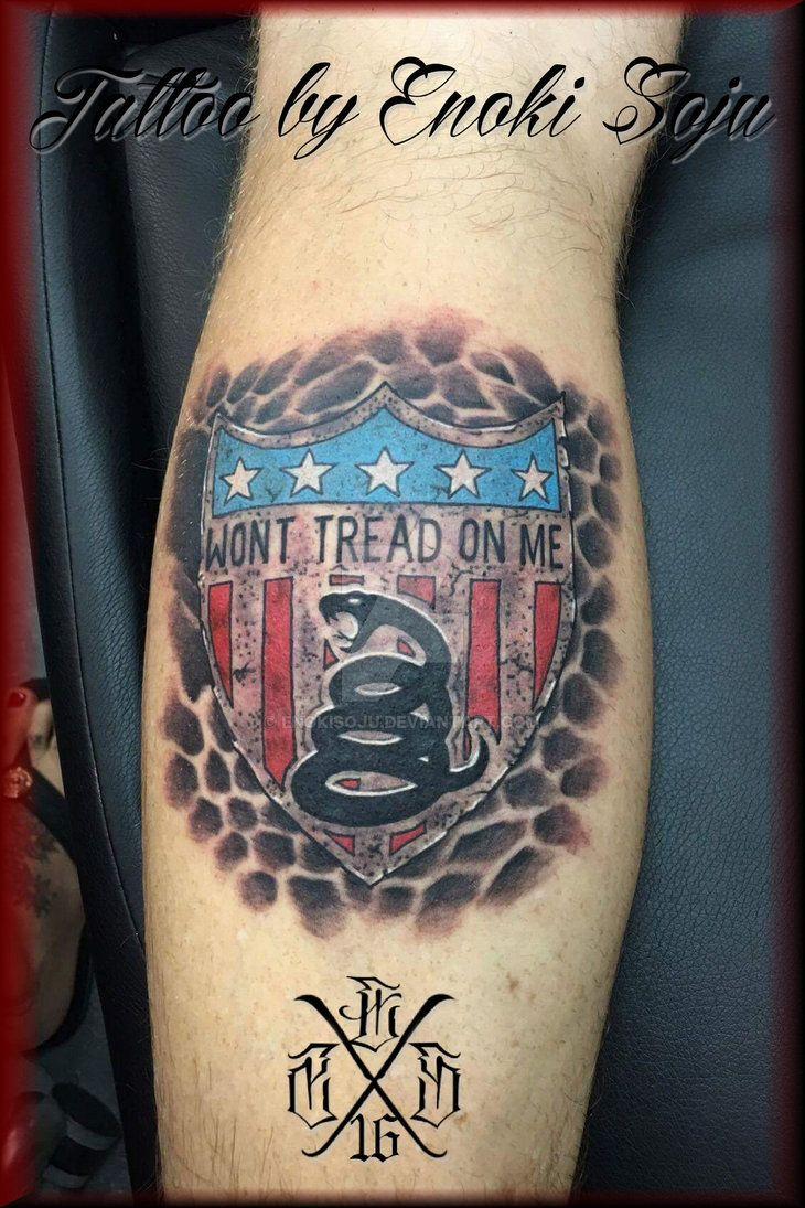 Fi fireman tattoo designs - Don T Tread On Me Tattoo By Enoki Soju By Enokisoju Deviantart Com