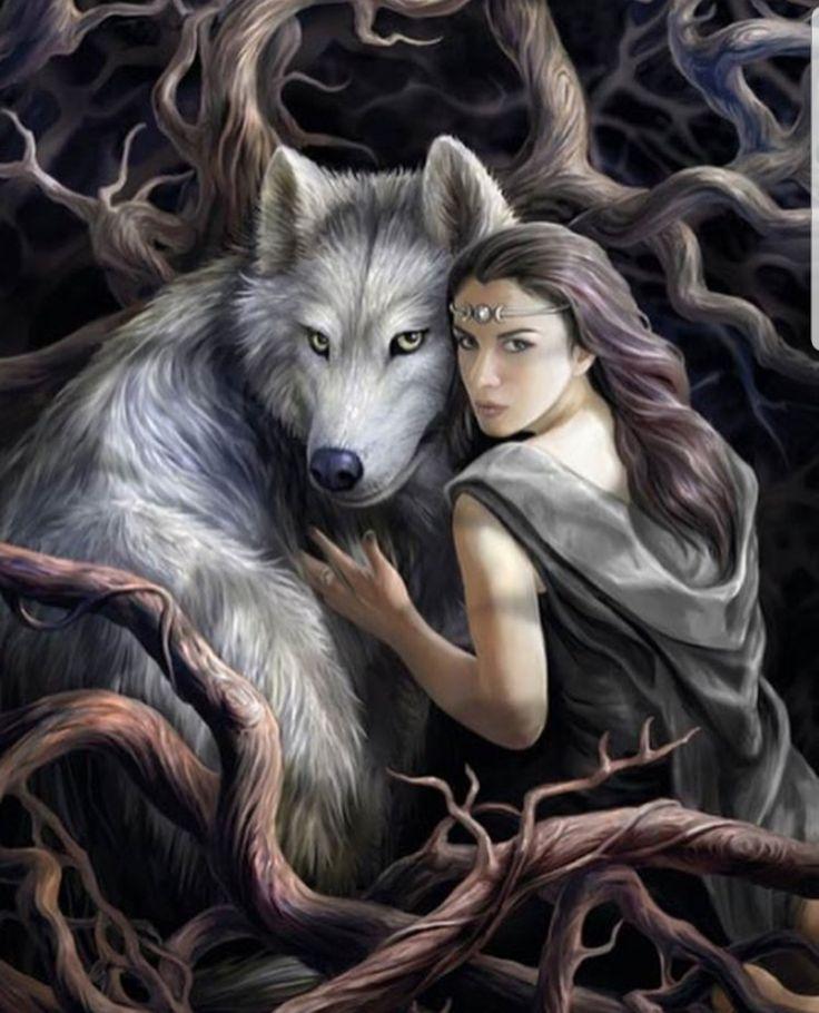 Картинки волк оборотень с девушкой
