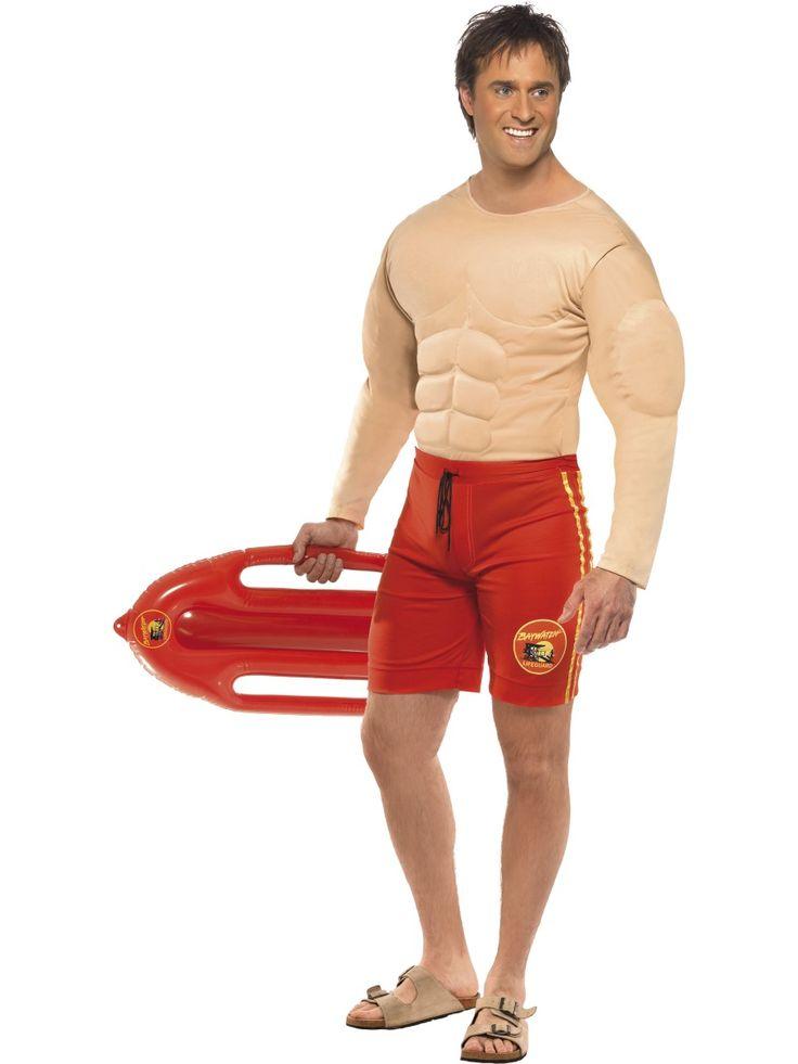 Baywatch lihaksikas sälli. Tällä Baywatch sällillä on lihaksia enemmän kuin laki sallii.