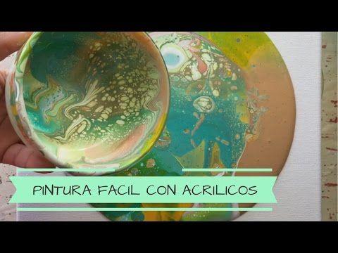 COMO PINTAR UN CUADRO FACIL | COMO PINTAR UN CUADRO ABSTRACTO | Técnica Acrylic Pouring - YouTube