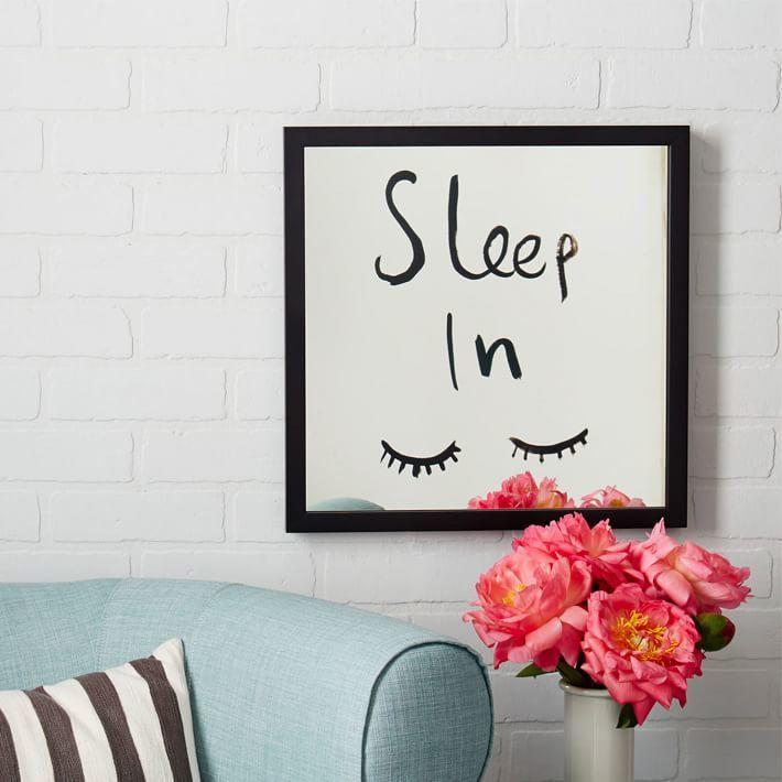 Kate Spade Saturday Mirrored Wall Art - Sleep In