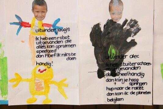 Kinderen laten verven, wat willen zij uitvinden: via juf janneke