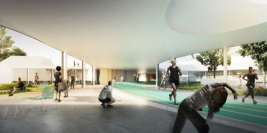 Elkiær+ Ebbeskov and Leth & Gori Win Competition for Multifunctional Sports Centre,© Bloom Images. Image Courtesy of Elkiær+ Ebbeskov / LETH & GORI