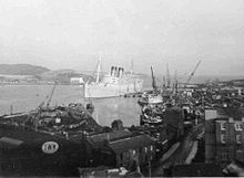 Mauretania 2 at the breakers yard - RMS Mauretania (1938) - Wikipedia, the free encyclopedia