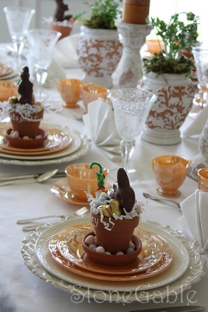 Easter dinner table setting - LOVE LOVE LOVE!!!!
