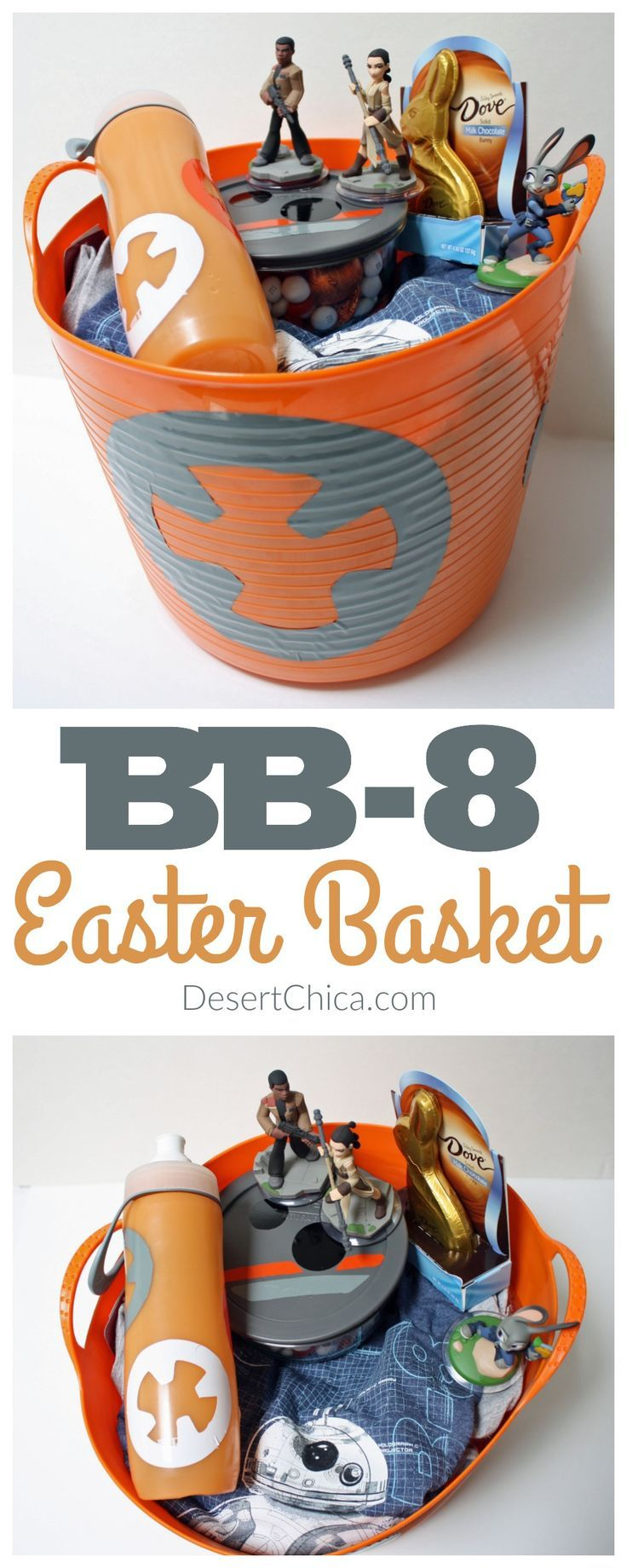 32 best disney themed easter basket ideas images on pinterest how to make a bb 8 easter basket ad eastersweets negle Choice Image