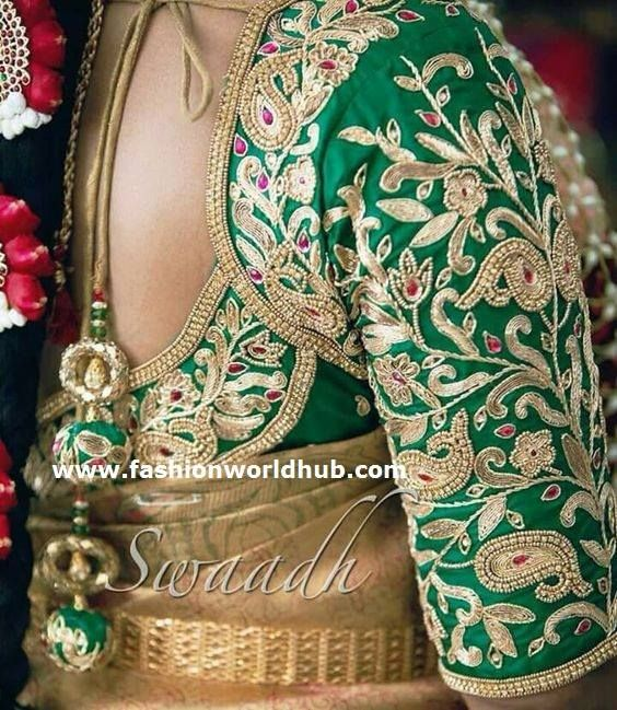 Maggam work is treated as one of the heavy and expensive work applied over the blouse and saris for ladies to avail.  You can also wear it with during your wedding occasion. The blouse …