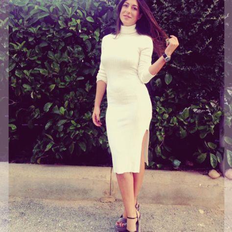 #followMI Florinda Petruzzellis in her #MIGATO ES4152 grey high heel velvet sandasl!  Shop link ► bit.ly/ES4152-L15en