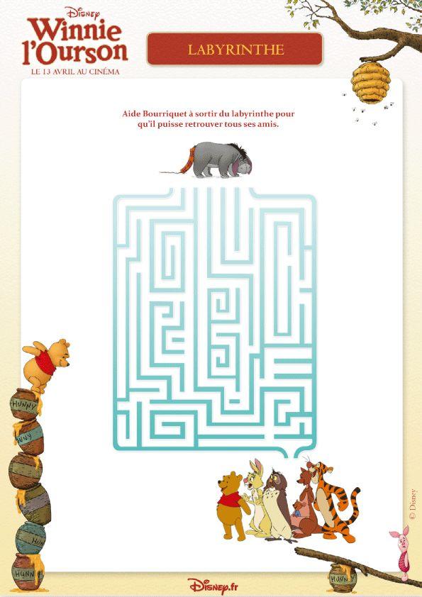 Un jeu de labyrinthe winnie l ourson pour s amuser avec - Jeux de winnie l ourson gratuit ...