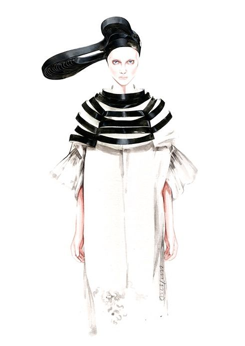 Junya Watanabe SS 2016 ⚫️⚪️ fashion illustration by António Soares