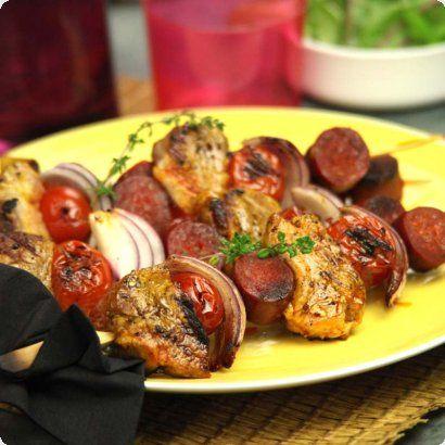 Brochettes de filet mignon de porc à l'Espagnole