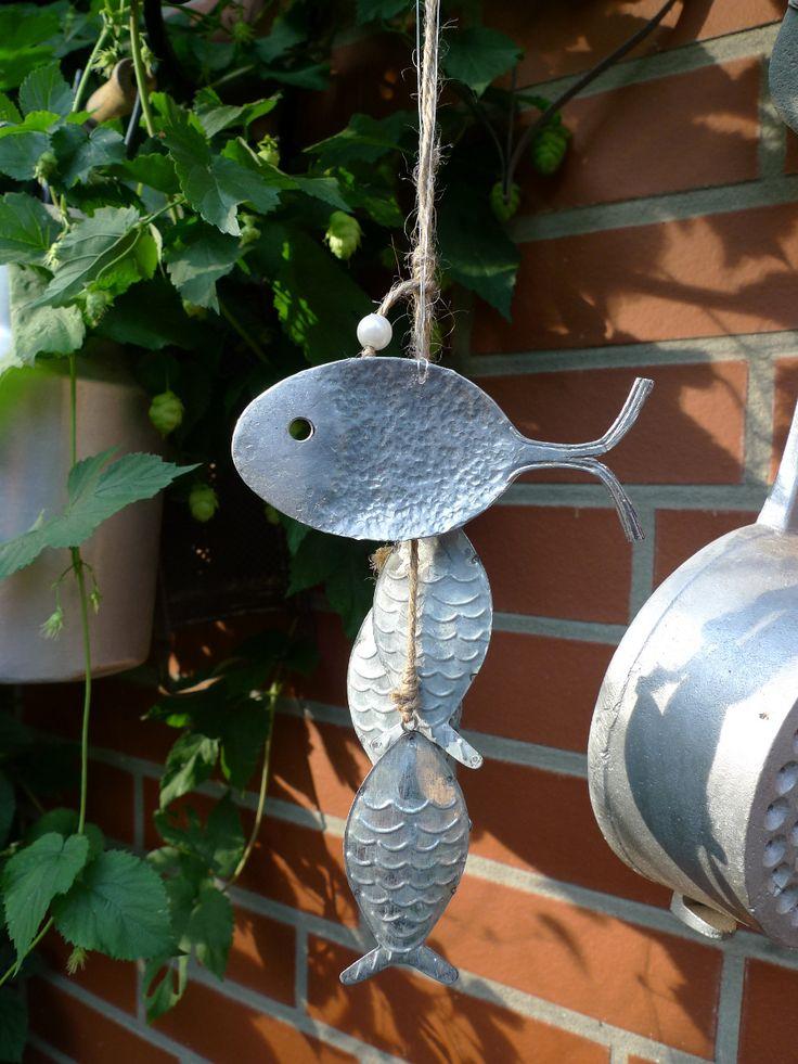 Fisch aus altem besteck basteln garten pinterest for Garten fische