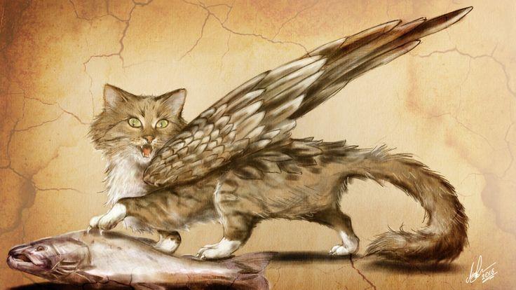 "Engraving ""the prey and the cat"", Vlad. Mineev on ArtStation at https://www.artstation.com/artwork/BnaGm"