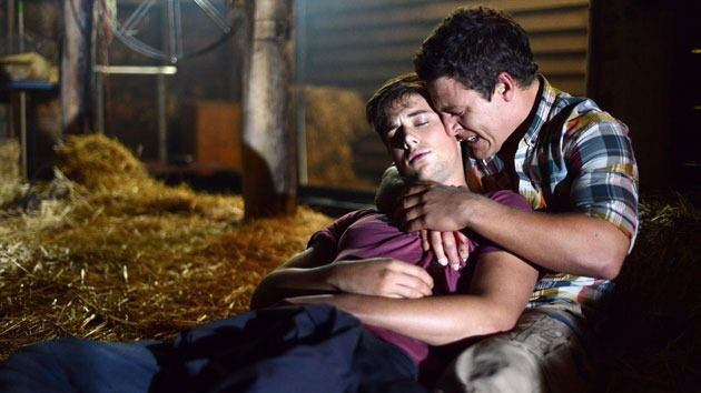 Sad moment. Brax holds Casey as he dies in his arms.
