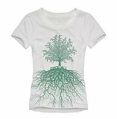 Dirtball Roots Women's Tee Shirt - Eco Clothing for Women - Eco Fashion $19.95