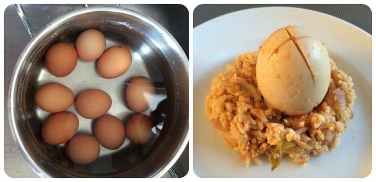 Heerlijk hete eieren maken. Recept Sambal goreng telor
