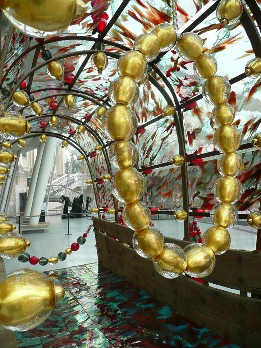 Jean-Michel Othoniel (French, b. 1964), The Secret Happy End (detail), 2008. Murano glass, Saint Just's mirror glass, metal, vintage carriage, 270.0 x 370.0 x 150.0 cm. Brooklyn Museum, Gift of Galerie Emmanuel Perrotin, Paris/Miami, and the artist, 2010.11. © Jean-Michel Othoniel/ADAGP, Paris 2012.