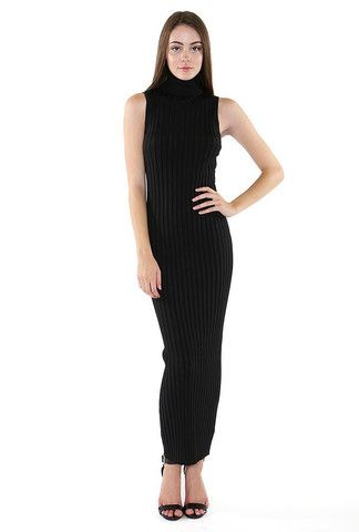 Remarkable Turtle Ribbed Midi Dress - inexpensive online boutique for women