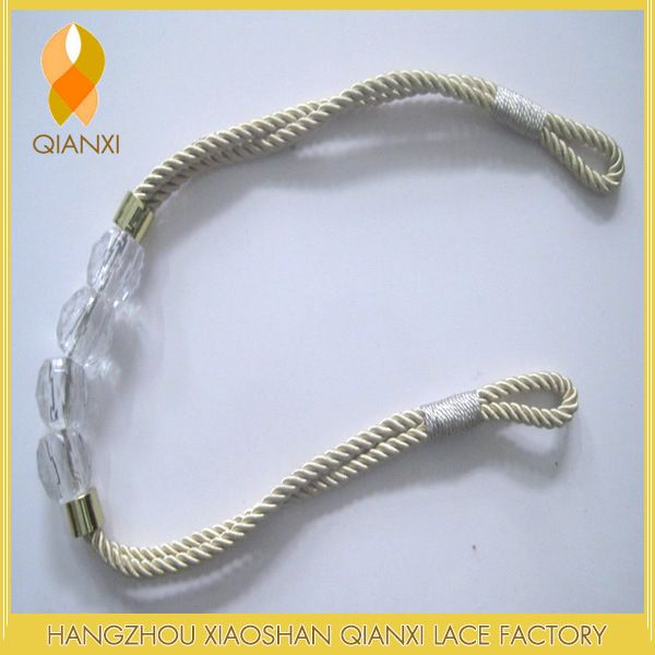 The curtain accessories 70 cm acrylic beads rope tieback