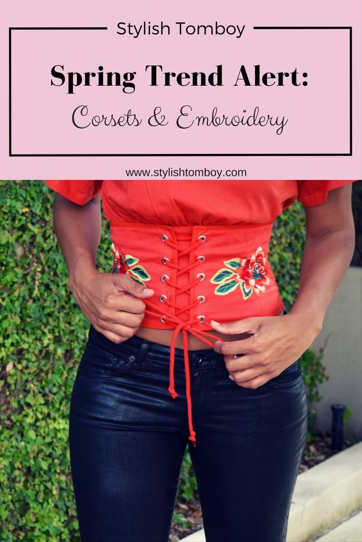 Corsets and embroidery are 2 big trends for spring/summer 2017. Click through to shop a bunch of items that I linked to!