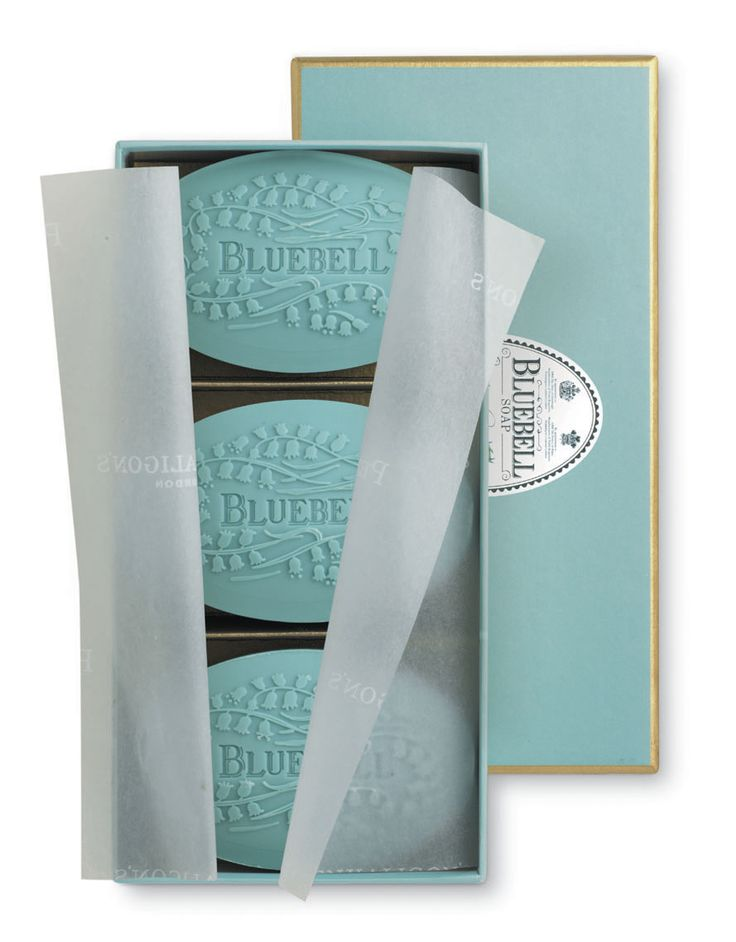 Penhaligon's - The Dieline - Nice bar of soap; delicate, clean, tender, soft