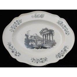 Platter: Corinthian Ruins C1780
