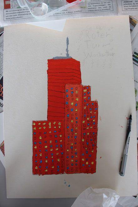 All the Buildings in Switzerland - Ideen Kunstunterricht Zeichnen Schule