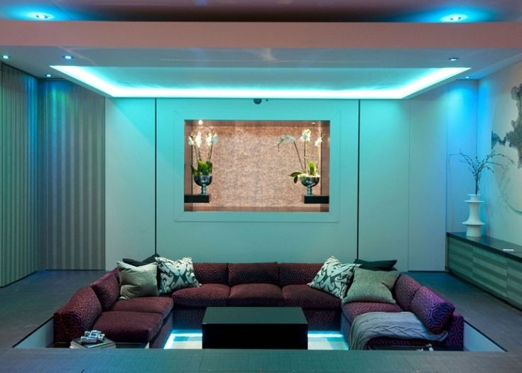 A Combination Of Recessed Light And LED Strip Lights Can Add More Fun To Your Room