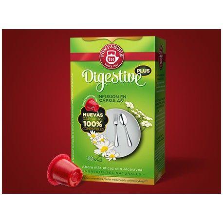 Digestive #pompadour AHORA MÁS EFICAZ, CON ALCARAVEA. Mezcla de plantas naturales que ayuda a los estómagos inquietos. Los principios activos de la manzanilla, el anís, el hinojo y el Rooibos se han reforzado con frutos de alcaravea, creando una infusión ideal para finalizar las comidas. Con un exquisito sabor a regaliz y hojas dulces de zarzamora. Ingredientes: Rooibos, Manzanilla, Anís, Hinojo, Menta crespa, Menta Piperita, Alcaravea, raíz de Regaliz, hojas de Zarzamora.