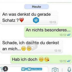 Lustige WhatsApp Bilder und Chat Fails 225 - An was denkst du?
