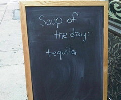 I'm having soup for lunch