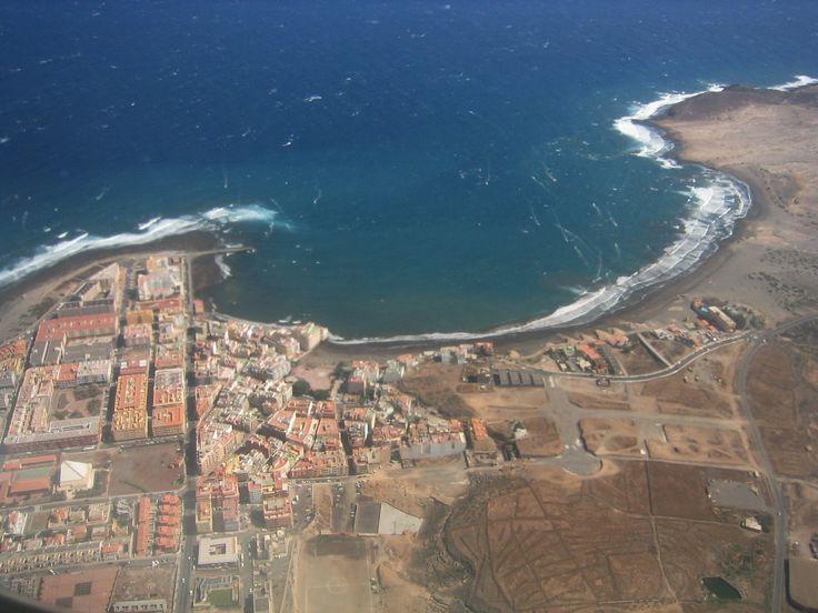 Vista aérea de El Médano. Tenerife Sur. Islas Canarias.