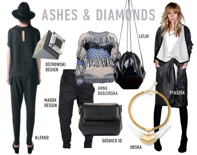 ASHES AND DIAMONDS www.hushwarsaw.com #hushwarsaw #hushwrsw #polish #fashion #trade #fair #klekko #ostrowskidesign #madoxdesign #goshicoid #annadudzinska #lelui #ptaszek #orska
