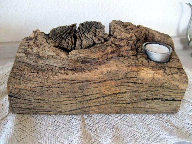 Teelichthalter aus altem Weidenzaunholz von Wandeldesign auf DaWanda.com