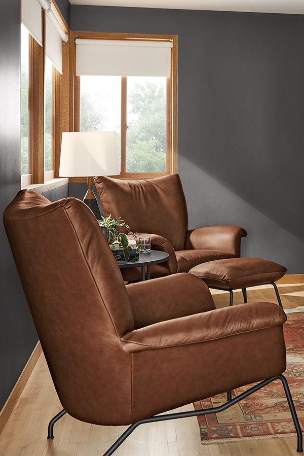 Room Board Paris Chair Ottoman Modern Accent Lounge