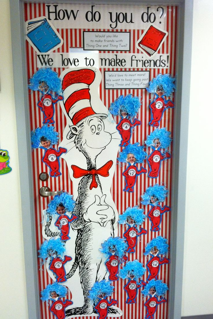 Classroom Door Decoration Ideas Rd Grade ~ Best images about kindergarten dr seuss on pinterest