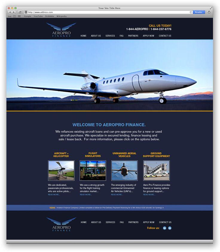 AeroPro Finance | Web Design Portfolio | Other Industries | Toronto | Richmond Hill | North Toronto | www.magentadesign.ca