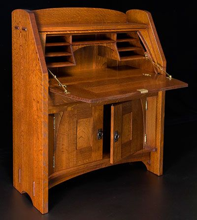 Old Ways Limited -- Drop Font Desk -- h x w x -- arts and crafts style - 69 Best Desks Images On Pinterest Wood, Antiques And Couple Room