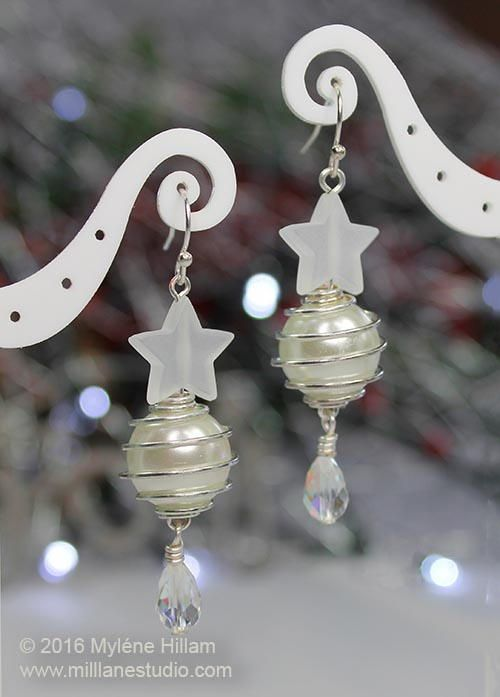 229 best christmas jewelry ideas images on pinterest christmas white as snow diy earrings solutioingenieria Images