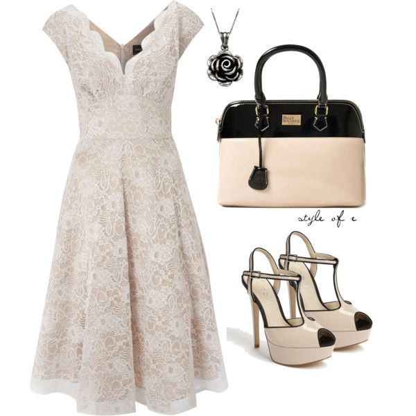Lace Dress, created by styleofe on Polyvore