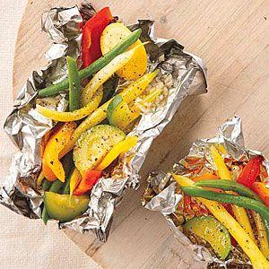 Grilled Vegetables in Foil Packets   MyRecipes.com